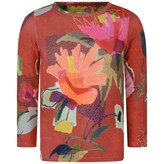 Oilily OililyRed Brushed Bloom Long Sleeve Tip Top