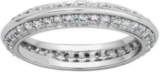 Diamonique 3/4 cttw Eternity Band Ring, Platinum Clad