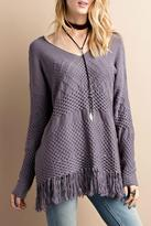 Easel Fringe Knit Sweater