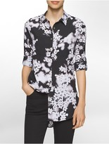Calvin Klein Floral Roll-Up Sleeve Tunic