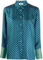Sandro Paris geometric print silk shirt