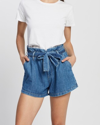 Outland Denim Women's Blue Denim - Goldie Shorts - Size One Size, 6 at The Iconic
