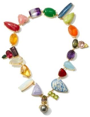 Daniela Villegas Wonderland Multi-stone, Pearl & 18kt Gold Choker - Multi