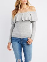 Charlotte Russe Off-The-Shoulder Ruffle-Trim Top