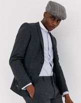 Shelby & Sons slim double breasted suit jacket in grey
