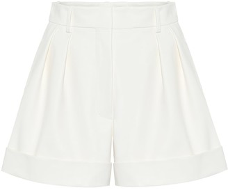 Valentino Leather high-rise shorts