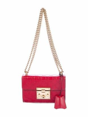 Gucci Small Signature Padlock Shoulder Bag gold