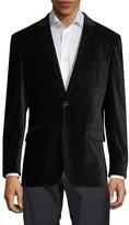 Notch Collar Velvet Jacket