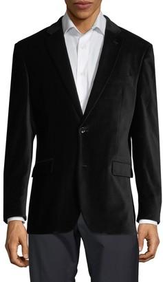 Tommy Hilfiger Notch Collar Velvet Jacket
