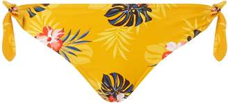 Dorothy Perkins Womens *Dp Beach Yellow Floral Print Bow Tie Bikini Bottoms