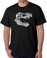 "Men's Word Art ""T-Rex"" T-Shirt in Black"