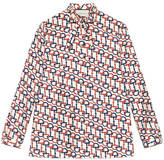 Gucci Horsebit print silk twill shirt