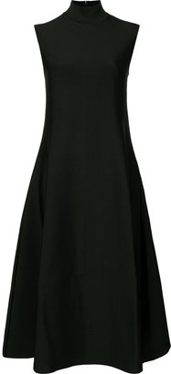 Maison Rabih Kayrouz High-Neck Flared Dress