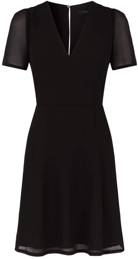 AllSaints Lucia Chiffon Mini Dress