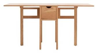 EQ3 Hallie Folding Dining Table Finish: Oak