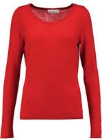 Amanda Wakeley Cutout Embroidered Cashmere Sweater