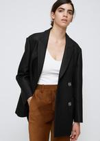 Acne Studios Black Chryse Ev Coat