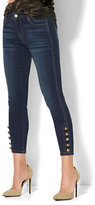 New York & Co. Soho Jeans - Button-Accent Demi Ankle Legging - Highland Blue Wash