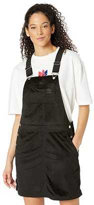 adidas Comfy Chords Dungaree Dress (Black) Women's Clothing