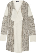 Splendid Draped knitted cardigan