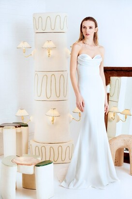 Christian Siriano Draped Gown with Satin Bodice