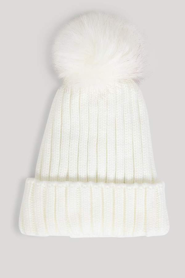 a4481e18c0f Cream Knitted Hat - ShopStyle UK