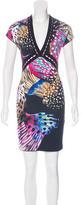 Roberto Cavalli Abstract Print Sheath Dress