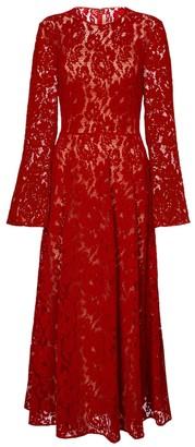 Christopher Kane Lace velvet midi dress