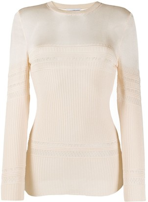 Paco Rabanne Pointelle Ribbed Knit Jumper