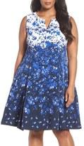 Chetta B Fit & Flare Dress (Plus Size)