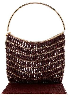 Rosantica Georgina Beaded Fringe-trimmed Bag - Red Multi