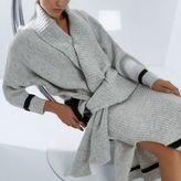 River Island Womens RI Studio grey knit tied hem wrap cardigan