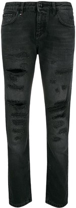 Philipp Plein Flora distressed jeans