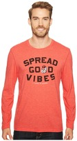 Life is Good Georgia Bulldogs Good Vibes Long Sleeve Cool Tee Men's T Shirt