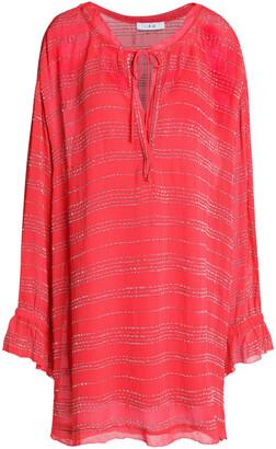 IRO Metallic Striped Crepe Mini Dress