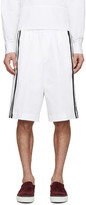 DSQUARED2 White Racing Stripe Shorts