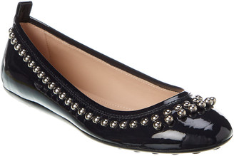 Tod's TodS Studded Patent Ballerina Flat