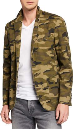 Joe's Jeans Men's Two-Button Camo Jacket