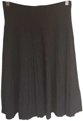 Valentino Anthracite Wool Skirt for Women