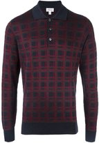 Brioni plaid longsleeved polo shirt