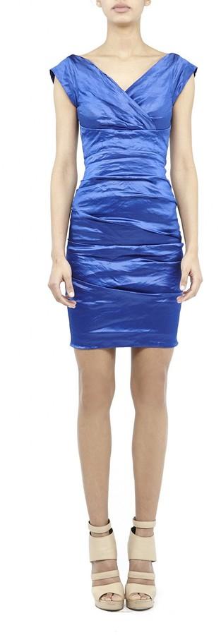 Nicole Miller Andrea Techno Metal Dress