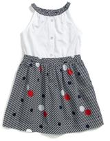 Tommy Hilfiger Final Sale- Polka Dot Sleeveless Dress