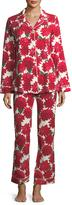 BedHead Dahlia Poinsettia-Print Long-Sleeve Pajama Set