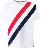 Thom Browne striped pocket T-shirt - men - Cotton - 0