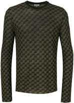 Lanvin patterned crew neck sweater