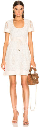 Valentino Lace Dress in Ivory | FWRD