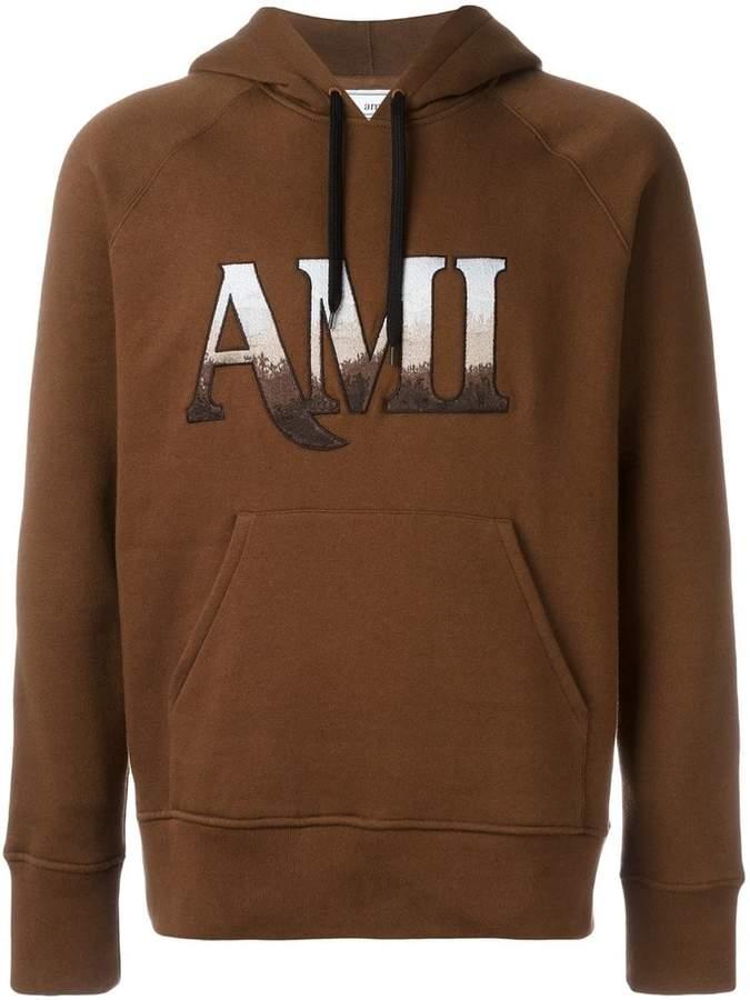 Ami Alexandre Mattiussi hooded sweatshirt ami embroidery