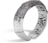 John Hardy Women's Bamboo 16MM Kick Cuff in Sterling Silver with Grey Sapphire