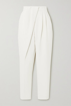 Proenza Schouler Draped Wool-blend Tapered Pants - White