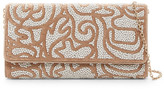 Sondra Roberts Beaded Faux Calf Hair Convertible Clutch